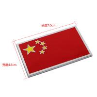 中国五星红旗金属爱国车贴汽车尾装饰3D立体个性贴纸划痕遮挡