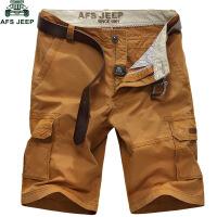 AFS jeep战地吉普新款休闲短裤五分裤男加大码裤44码潮沙滩裤7796