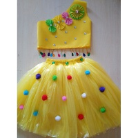 儿童演出服装无纺布塑料袋手工制作衣服时装走秀子装公主裙