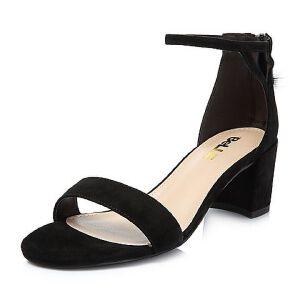 Belle/百丽2018夏新专柜同款羊绒皮革女凉鞋BLAE3BL8