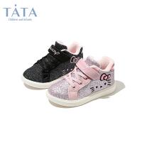 【券后价:141.7元】他她Tata童鞋儿童小白鞋女童小童冬季加绒休闲鞋子