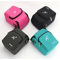 索尼微单相机包 防水单肩相机包 便携摄影包腰包 配件照相包 K012小号黑灰 色