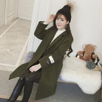 毛呢外套女中长款韩版2018新款学生开学季矮个子原宿风呢子大衣潮