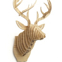 other鹿头壁挂家居挂件装饰北欧原木玄关墙饰欧式动物头创意壁挂