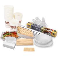 户外烧烤一次性用品全套套装烧烤常用工具锡纸碗碟杯竹签竹筷