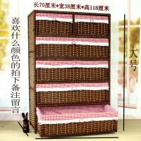 加大厚藤编床头柜抽屉式收纳柜实木婴儿童宝宝衣柜五斗柜储物柜子