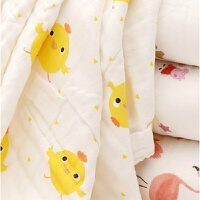 婴儿浴巾超柔吸水新生婴幼儿童初生宝宝小孩洗澡毛巾纱布被子 10层 110*110cm 小黄鸡
