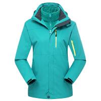 秋冬户外冲锋衣男女两件套三合一外套防风保暖情侣登山服