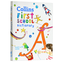 柯林斯小学词典 英文原版 Collins First School Dictionary 英文版柯林斯英英字典词典 进