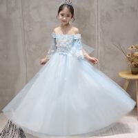 公主裙女童蓬蓬纱儿童礼服婚纱晚礼服花童钢琴演出服长款