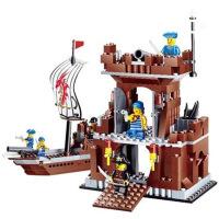 儿童海盗系列高乐拼装积木塑料拼插益智男孩玩具30007