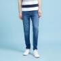 美特斯邦威旗下 4M牛仔裤男士春季新款中腰韩版水洗小脚长裤子青年韩版潮