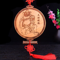 葫芦铜钱吉祥挂件摆件家居装饰挂件钟馗捉鬼木雕