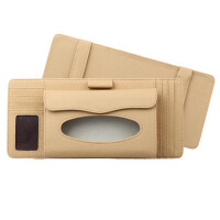 汽车内饰用品车载车用纸巾盒 汽车创意遮阳板挂式天窗椅背抽纸盒SN2522