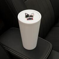 车载垃圾桶创意可爱车内车用多功能放置物桶汽车门槽水杯架收纳桶
