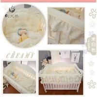 纯棉婴儿床围床品3D透气夏季宝宝蚊帐婴童床上用品套件