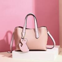 女包时尚休闲托特包女士韩版大气手提包包女潮 粉色