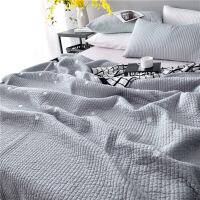 全棉韩国绗缝床盖三件套单件纯棉空调被多功能夏凉被夹棉被子欧式床罩