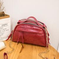 休闲链条小包包新款简约油皮女包女士包袋手提包时尚包包