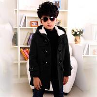 男童秋装外套秋冬新款中大童毛呢大衣中长款儿童呢子风衣加厚