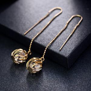 新年礼物Mbox耳环 女日韩国长款夸张个性耳坠 气质百搭耳钉耳饰 如影随形