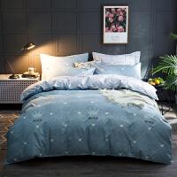 网红加厚磨毛棉全棉四件套1.8米纯棉床单被套双人床上用品三件套