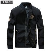 JEEP SPIRIT吉普男装小立领夹克时尚休闲男士棒球服春秋薄款茄克外套