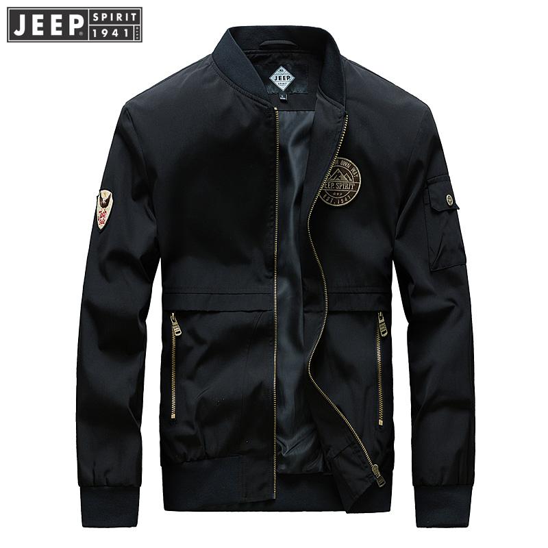 JEEP SPIRIT吉普男装小立领夹克时尚休闲男士棒球服春秋薄款茄克外套 好功夫在细节,吉普品质体验,售后无忧!