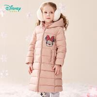 【2件3折到手价:200】迪士尼Disney童装 儿童长款羽绒服男女宝宝时尚保暖外套迪斯尼卡通印花上衣冬季新品194S