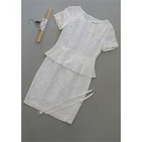 拉[F15-300]专柜品牌2398正品亚麻桑蚕丝女装连衣裙0.27KG