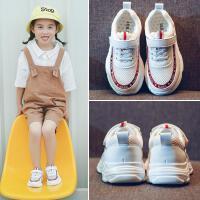 夏季女童网鞋小白鞋老爹鞋2018新款透气中大童男童儿童运动鞋潮