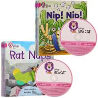 幼儿进阶阅读 Big Cat Phonics 自然拼读教材 Pink 级别1A和1B(16本组合)