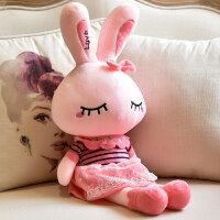 大号可爱兔子毛绒玩具送女生生日礼物陪睡公仔儿童抱枕玩偶布娃娃 粉色朵朵兔