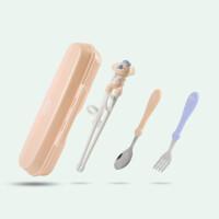 歪把勺 儿童筷子训练筷学习筷宝宝练习筷子小朋友专用筷勺子餐具套装
