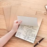 ins风简约牛皮32k笔记本加厚个性创意复古a4本子空白记事本学生读书随身文具小清新练习本手绘草稿本办公用品