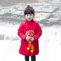 汉服童装女童旗袍唐装儿童中国风棉衣男童夹棉加厚龙凤刺绣拜年服