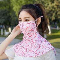 防晒口罩女夏季防紫外线遮阳透气韩版面罩护颈披肩骑行