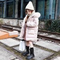 童装女童棉衣外套2018新款加厚冬装中大童儿童秋冬中长款棉袄