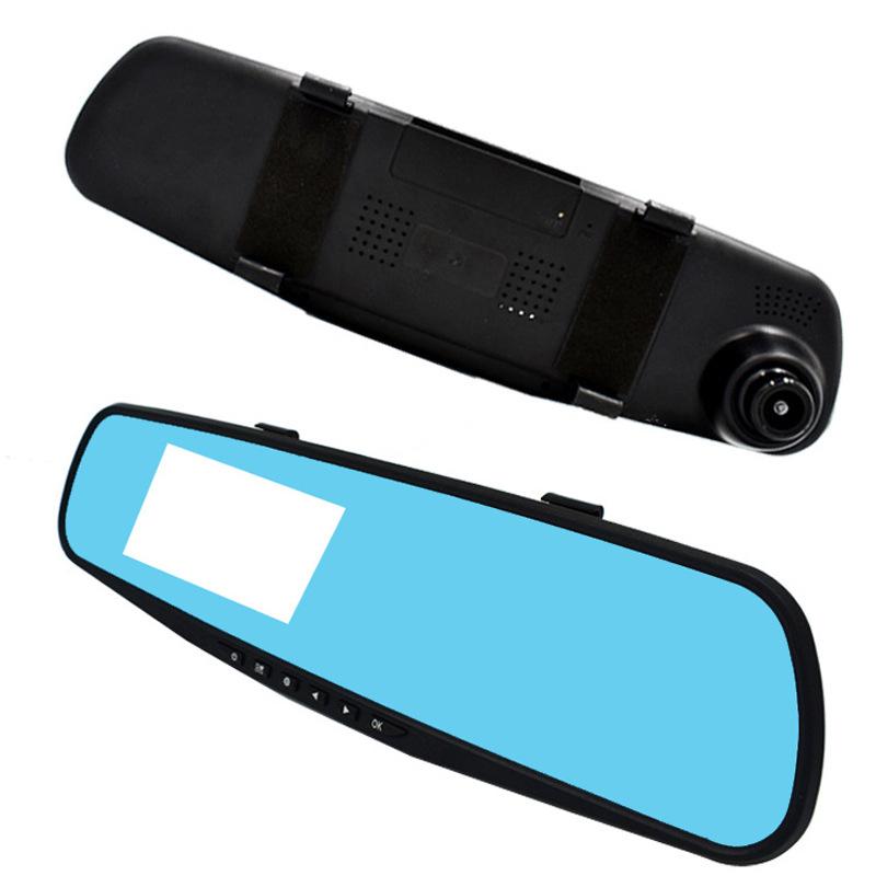 行车记录议高清后视镜 3.5寸后视镜行车记录仪 汽车电子监控