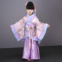 新款儿童古装演出服 女孩古装仙女舞蹈服 小学生国学服装女童汉服