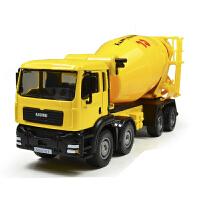 合金工程车 水泥搅拌车搅拌罐车模型玩具儿童玩具合金车模