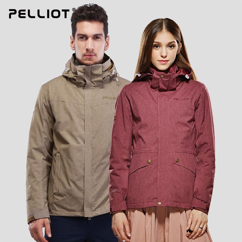 伯希和户外冲锋衣 男女三合一西藏防水透气秋冬情侣冲锋衣