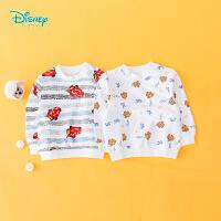 【2件3.5折到手价:48.3】迪士尼Disney童装 男童纯棉套头卫衣卡通印花圆领上衣秋季新款男孩外出服193S11