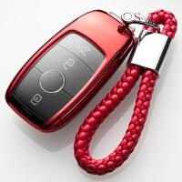 奔驰钥匙包C200L汽车C级S级通用TPU套GLC260壳GLE300扣GLA新E系
