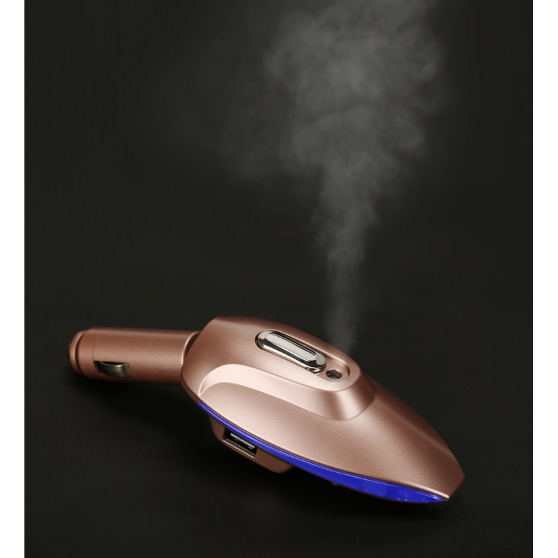 古宾 车载空气净化器 氧吧车用负离子香薰除甲醛异味喷雾加湿双USB车充