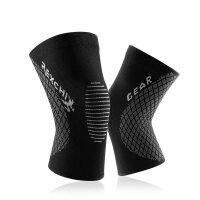 运动护膝户外登山骑行健身篮球透气体育用品弹力针织硅胶护具