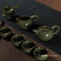 龙泉青瓷陶瓷茶具套装茶壶功夫茶具仿古釉茶杯茶道哥窑开片可养