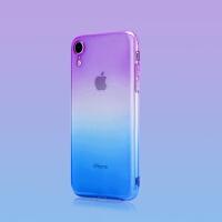 双色iphone xr手机壳 xs渐变色iphone XS max苹果XR手机壳新款 iphone XR