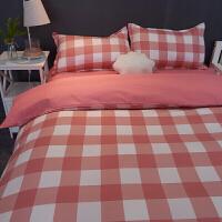 秋冬粉色少女可爱床上四件套4被套1.5m1.8被子单人床单3三件套1.2 粉红色 悦颜.