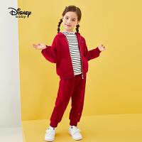 【4折�A估�r:127.6元】迪士尼女童冬季加�q�B帽外穿套�b�和������r尚洋�饪��杉�套